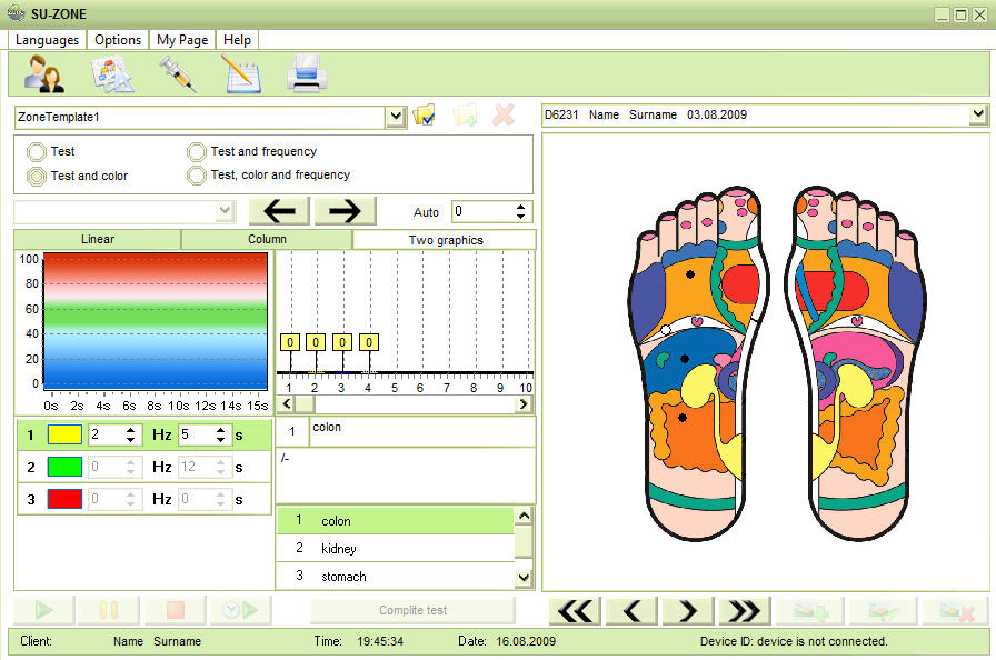 The Reflexology software with diagnostics and treatment affordable Screen Shot